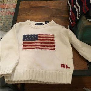 Kids Ralph Lauren flag sweater size 4 toddler